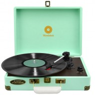 mbeat Woodstock Retro USB Turntable - Tiffany Blue