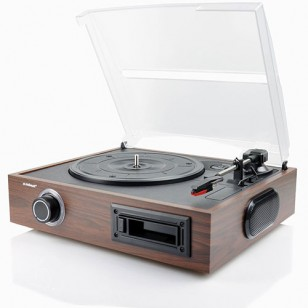 mbeat Retro USB Turntable and Cassette Player